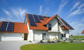 Solar power house.